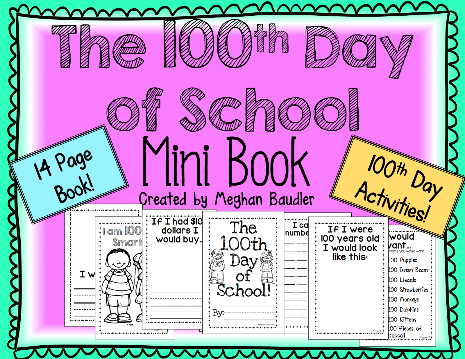 100th Day of School Writing Prompts: Freebie, Past Narrative, Personal Narrative