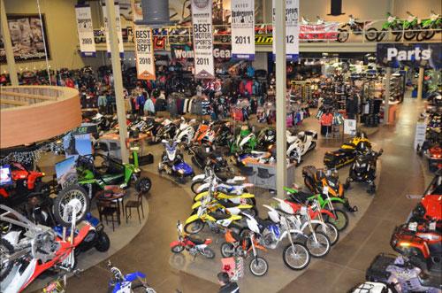 The showroom at rexburg motor sports photo by matt allred for