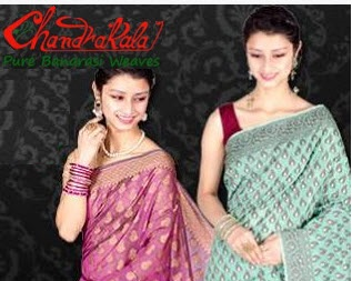 Flipkart : Buy Chandrakala Banarasi Silk Sari Minimum 75% off from Rs. 399 only