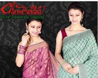 Flipkart : Buy Chandrakala Banarasi Silk Sari Minimum 75% off from Rs. 399 only