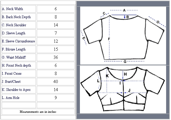 How To Measure Ladies Blouse 110