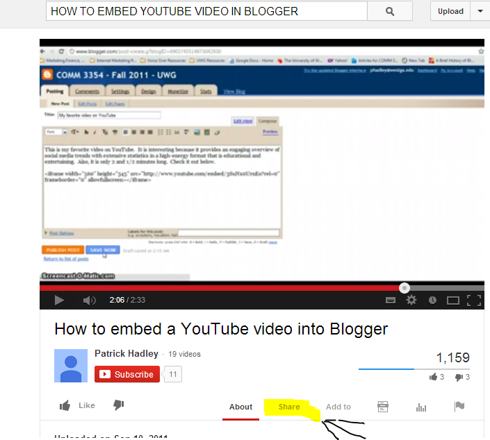 How To Embed/Play Youtube Video on Blogger