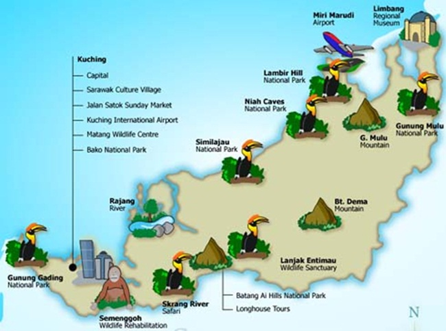 Cats City Hornbill Land Sarawak The Land Of The Hornbills
