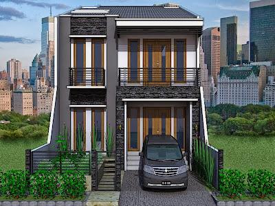 Rumah tingkat modern