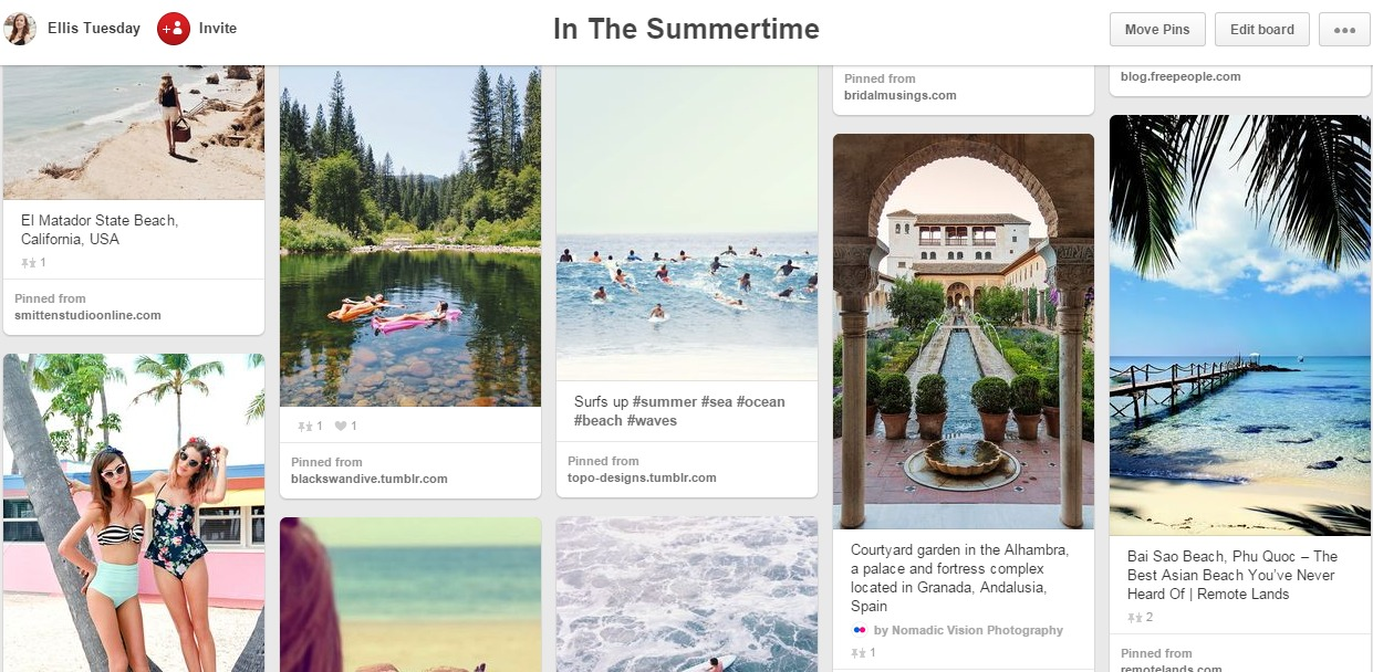 Summer Travel Pinterest