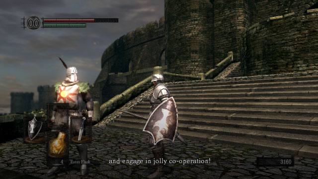 Dark Souls Solaire of Astoria says engage in jolly co-operation