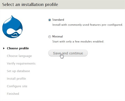 Choose Standard Profile Option