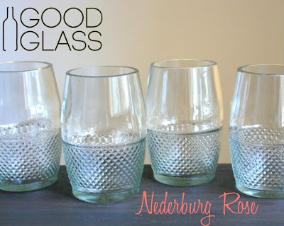 recycled glassware made by Good Glass in Uganda