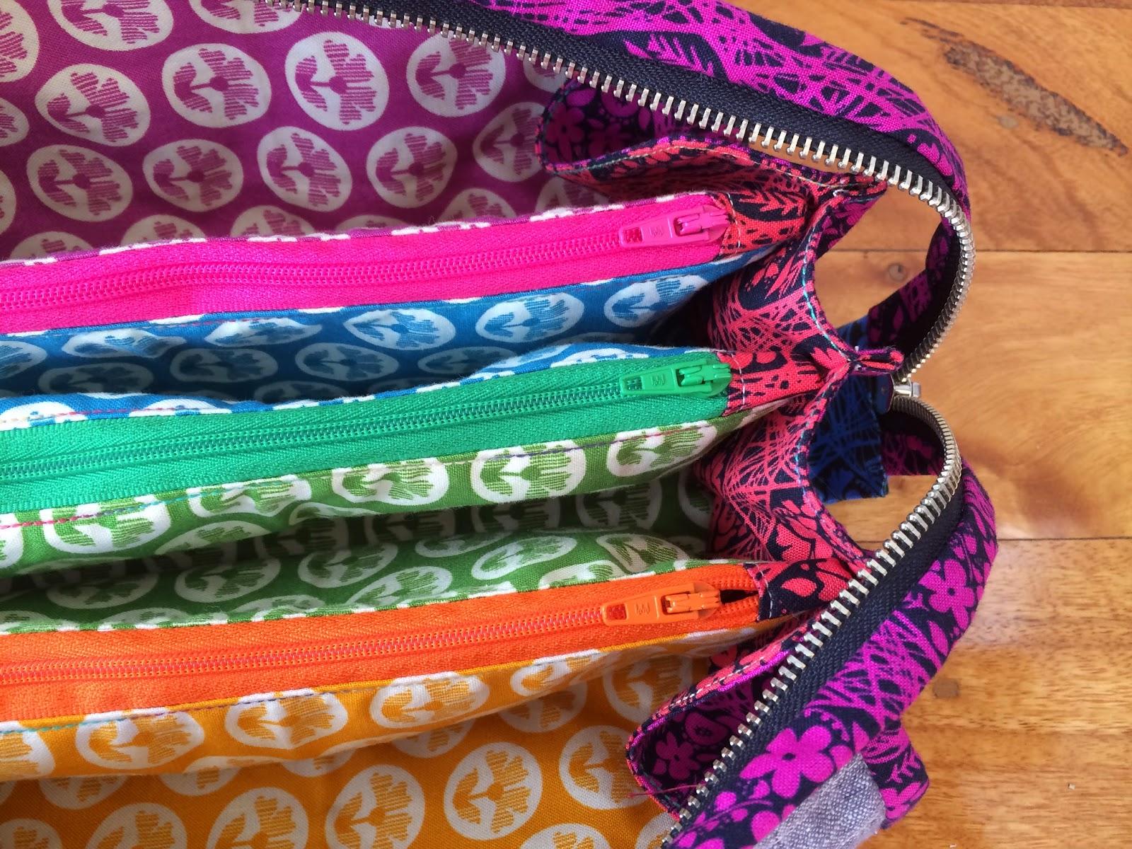 Anna Maria Horner rainbow sew together bag