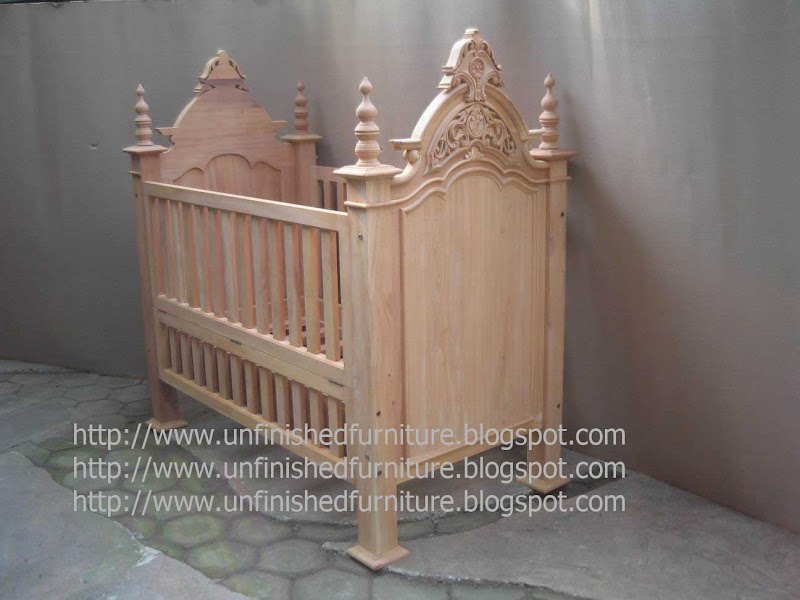 Unfinished Wooden Baby Doll Furniture (8 Image)