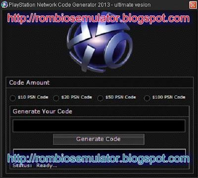 PSN Code Generator 2013