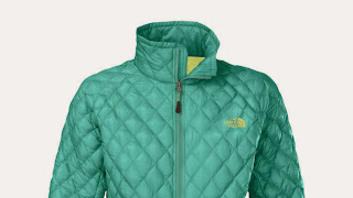 This photo provided by The North Face shows a Women's ThermoBall full