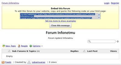 Membuat Forum
