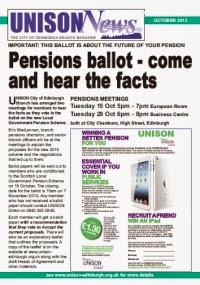 Pensions ballot - come and hear the facts