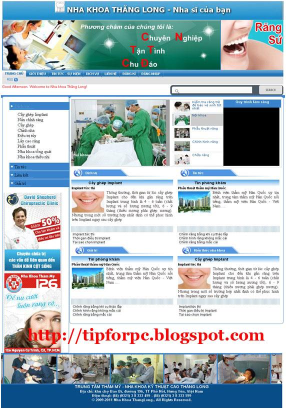 Source ASP.Net Mã nguồn code Website quản lý phòng khám nha khoa + báo cáo