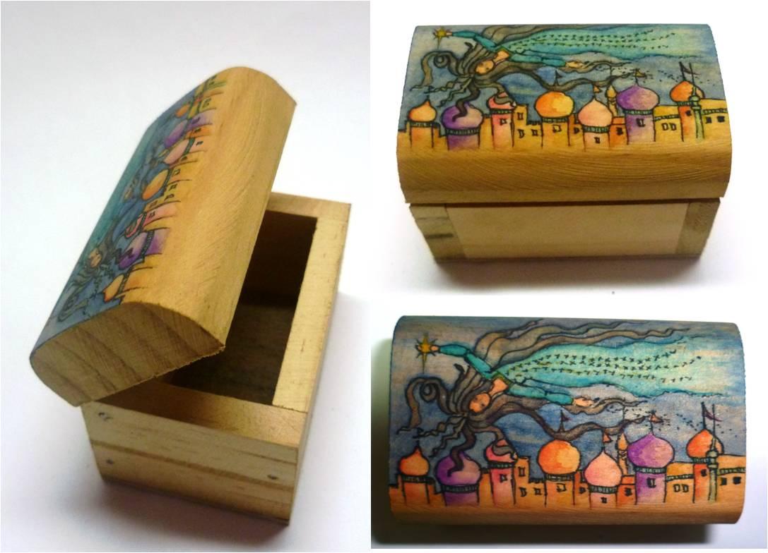 Baules de madera orientales - Baules pintados a mano ...