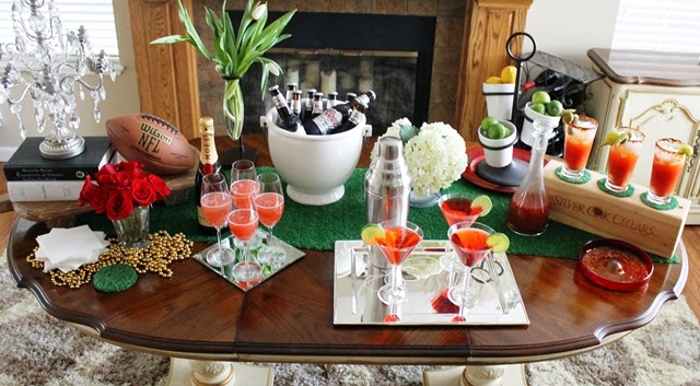 Stylish Super Bowl Party Decorating Ideas Touchdown Bar