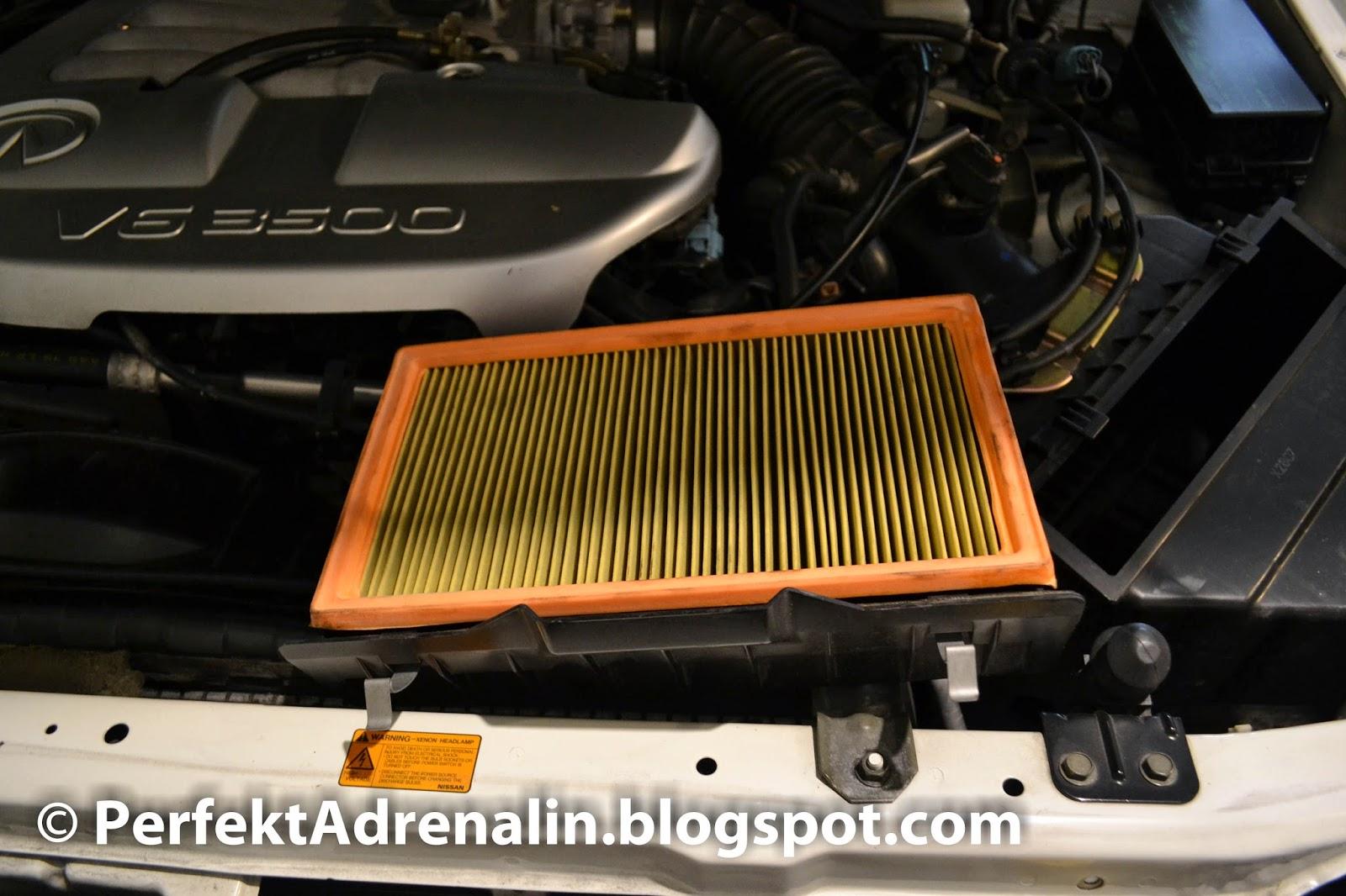 Perfektadrenalin diy infiniti qx4 pathfinder air filter 2001 2003 dirty air filter removed vanachro Image collections