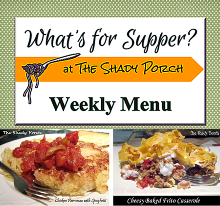 What's For Supper: Menu October 13, 2014