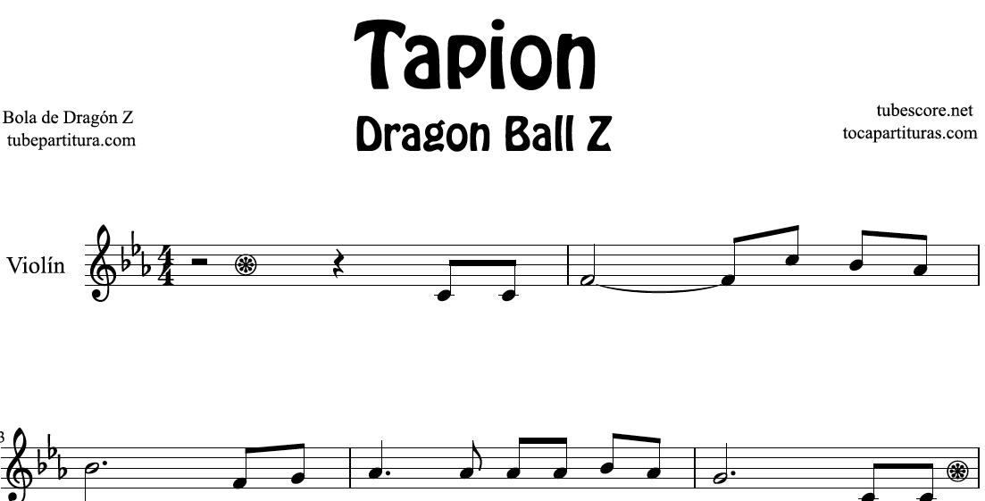 Tapión Bola de Dragón Z Partitura de Flauta, Violín, Saxofón Alto, Trompeta, Viola, Oboe, Clarinete, Saxo Tenor, Soprano Sax, Trombón, Fliscorno, chelo, Fagot, Barítono, Bombardino, Trompa o corno, Tuba... Dragon Ball Z