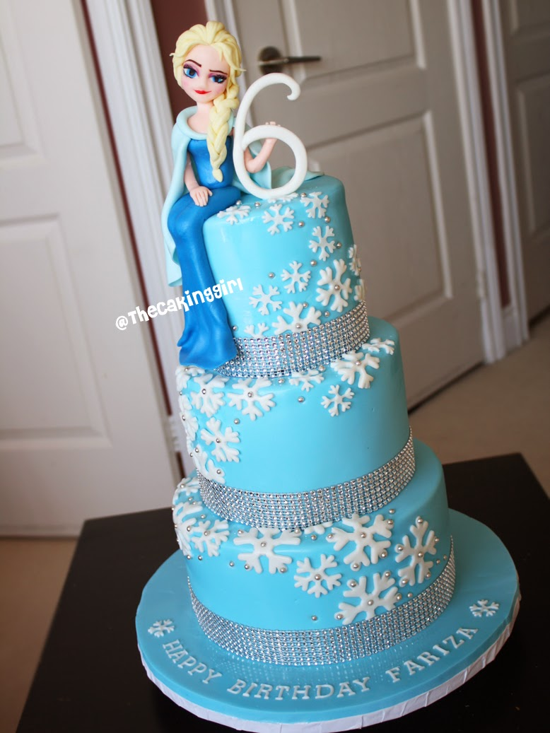 TheCakingGirl My Frozen Elsa Anna Olaf Cake and Cupcake Designs