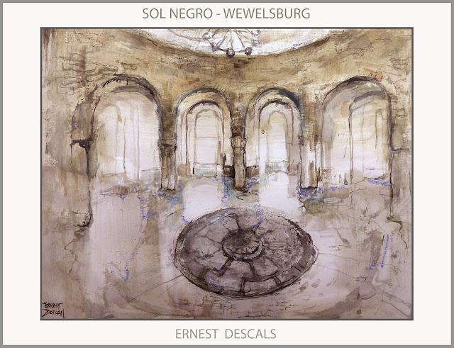 WEWELSBURG-SOL NEGRO-CASTILLO-ARTE-PINTURA-HISTORIA-MISTICA-III REICH-SS-ARTISTA-PINTOR-ERNEST DESCALS-