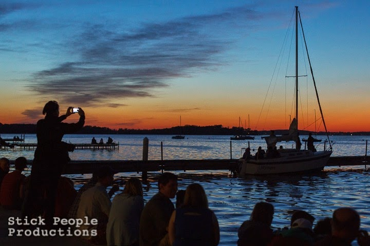 Sunset over Lake Mendota at University of Wisconsin Memorial Union Terrace - (c) Kelly Doering