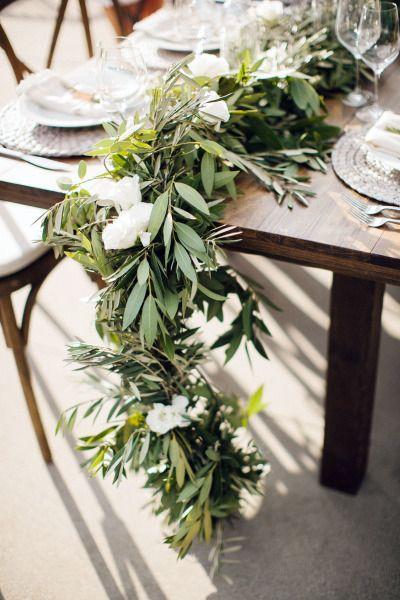 deco mesa boda olivo