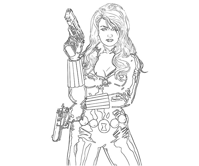 free black widow coloring pages - photo#18