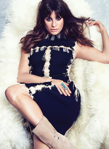 Lea Michele Flare Magazine October 2015 Photo Shoot