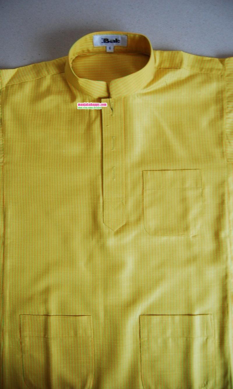 Baju Melayu Klasik Cekak Musang kanak-kanak Code BMC 7007 Yellow Green ...