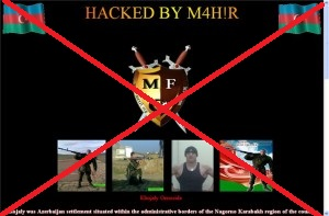 az azeri bad hacker failed blame armenian website