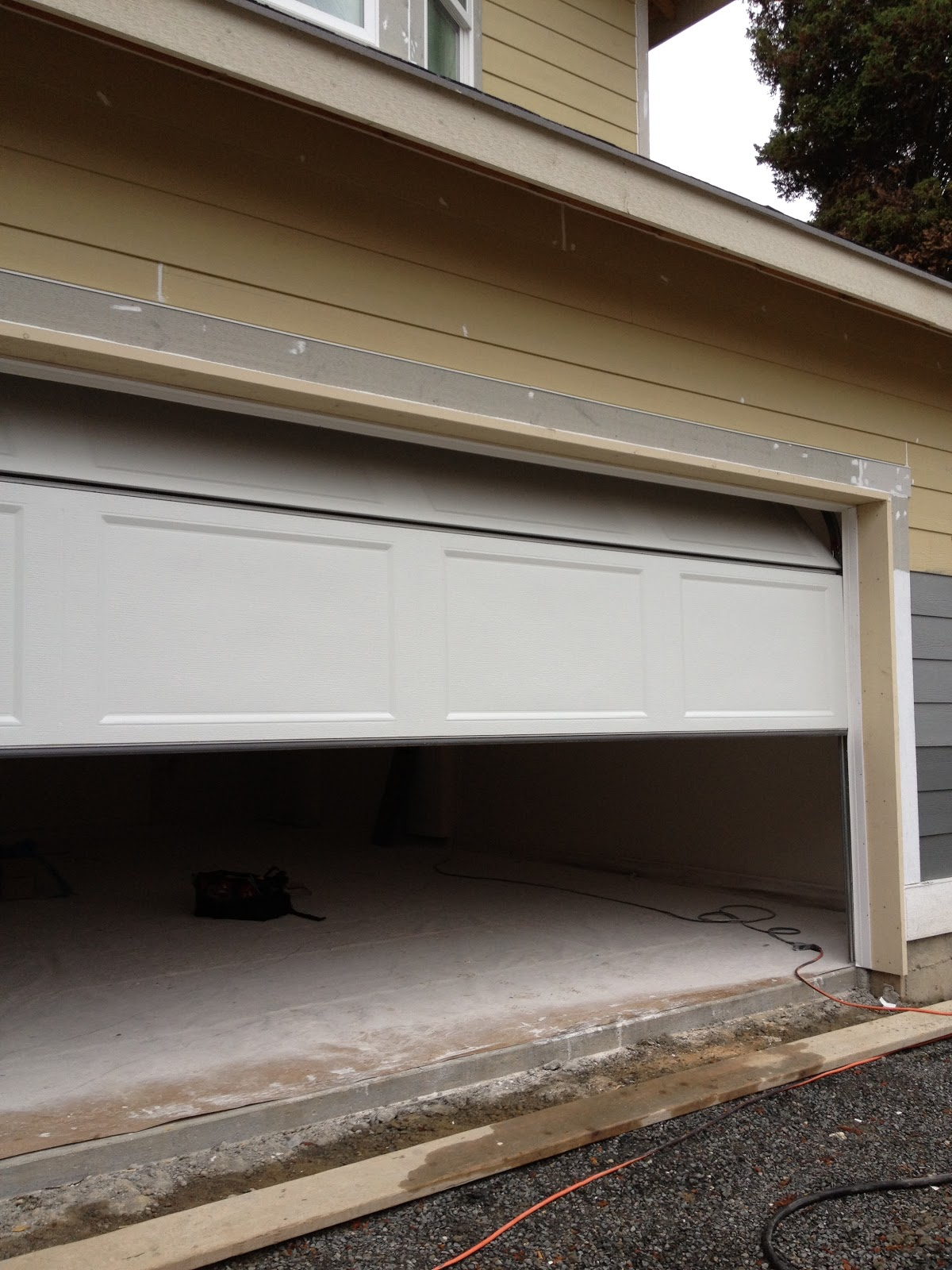1600 #984833  Home From The Ground Up: Progress Photos Garage Door Installation pic Installed Garage Doors 37211200