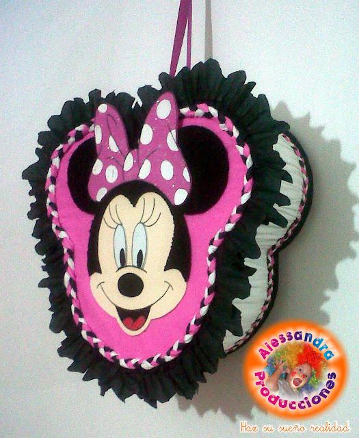 Como hacer una piñata de Minnie - Imagui