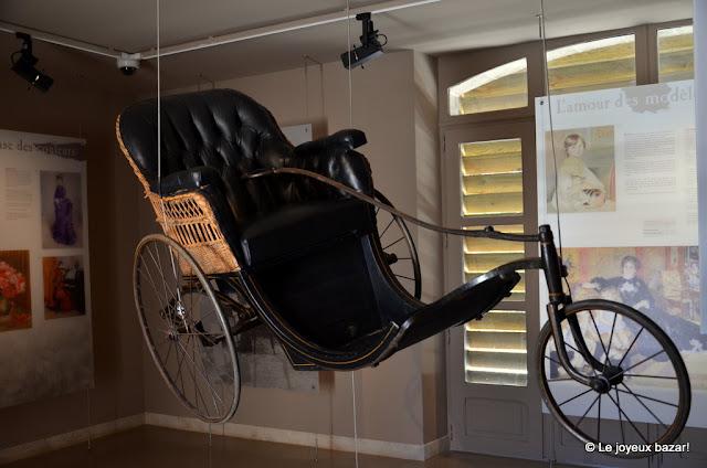 Aube - Essoyes - atelier de Renoir - fauteuil roulant