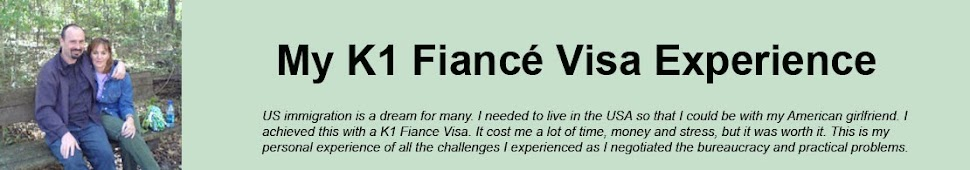 My K1 Fiance Visa Experience