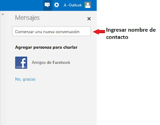 chatear con contactos en outlook
