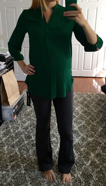 41Hawthorn - Colibri Solid Tab Sleeve Blouse - Maternity Stitch Fix Review