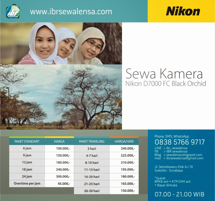 Harga Sewa Kamera Nikon D7000 Black Orchid False Color