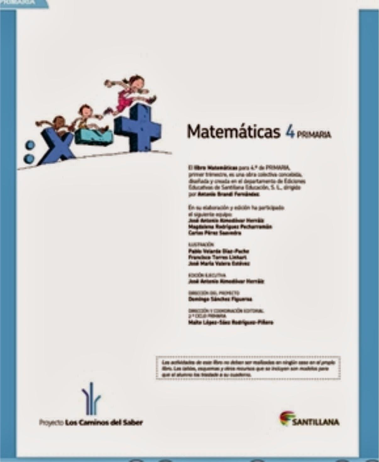 Matemáticas  4º. SANTILLANA DIGITAL