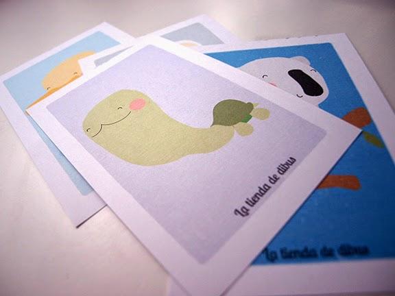 postales para niños con animalitos: detalle dibu tortuga