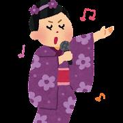 演歌歌手のイラスト