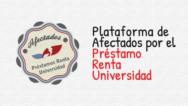 Modificación condiciones Préstamo Renta Universidad