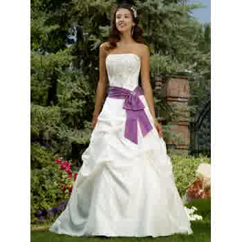 White and Purple Charms Wedding Dresses   Prom gowns and wedding bridal