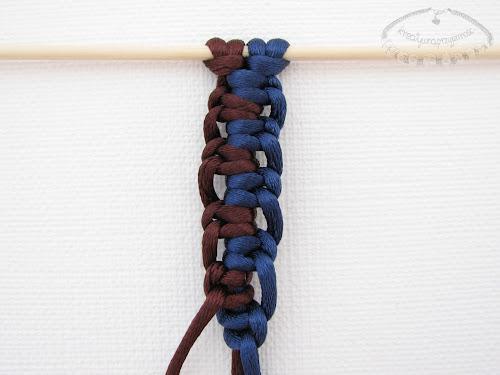 Podwójny węzeł łańcuszkowy wykonywany na 4 sznurkach - 10