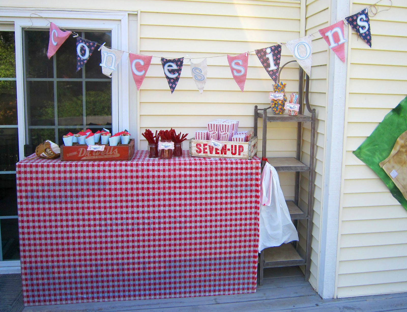 Baseball Birthday Party Concession Stand