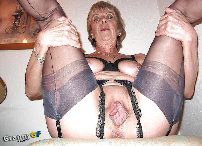 old horny granny showing pussy