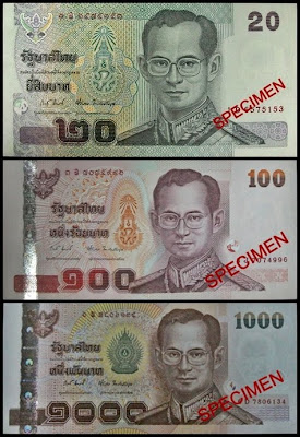 Thai Banknotes with new signature variety sig 82