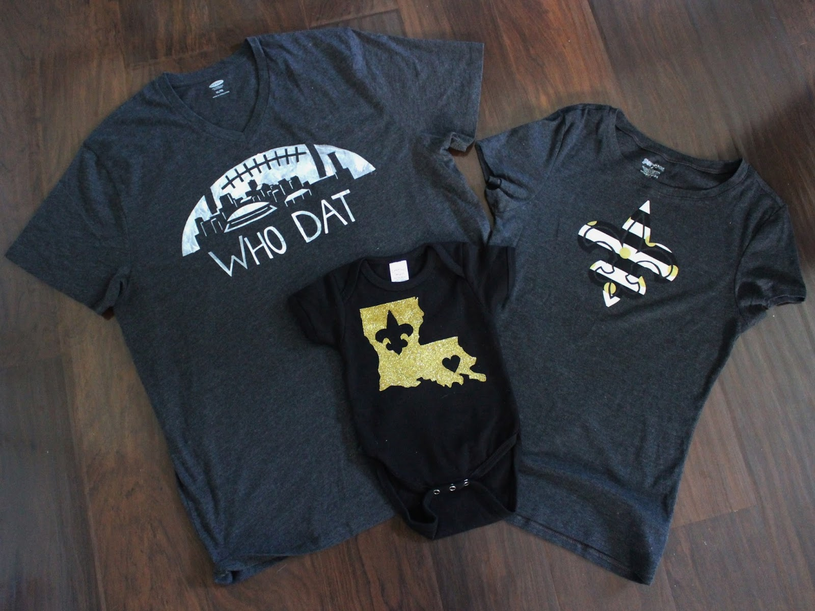 Nadias diy projects 3 diy new orleans saints t shirt designs that means lots of diy saints gear this sunday the mercedes benz superdome will host their first game of the season make your own diy t shirts to the solutioingenieria Image collections