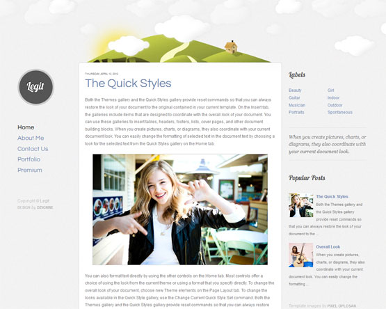 The Quick Style Blogger Template